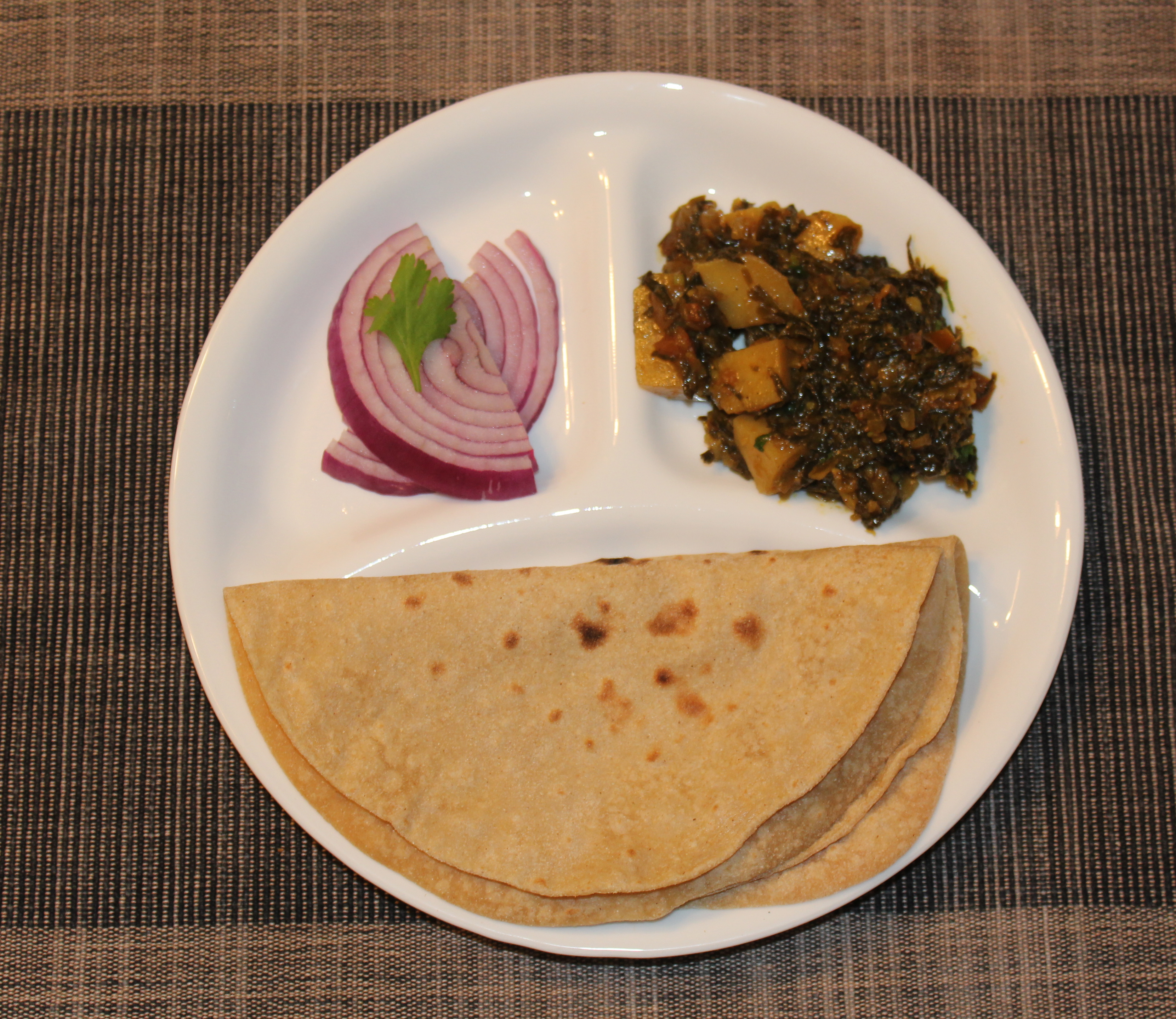 Methi Aloo (Fenugreek leaves with potatoes) – CurryLore
