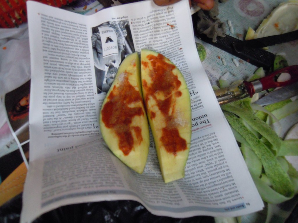 Totapuri mango slices - Picture courtesy Hari