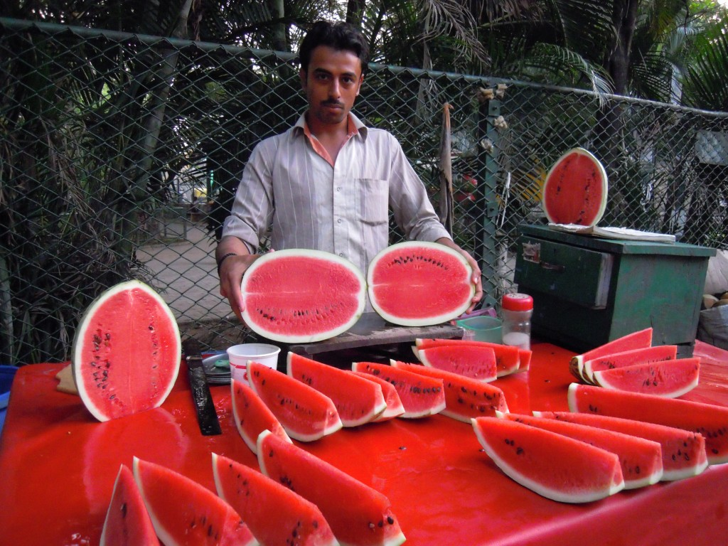 Juicy watermelons on a hot summer evening - Picture courtesy: Hari