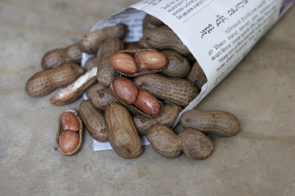 Boiled salted peanuts
