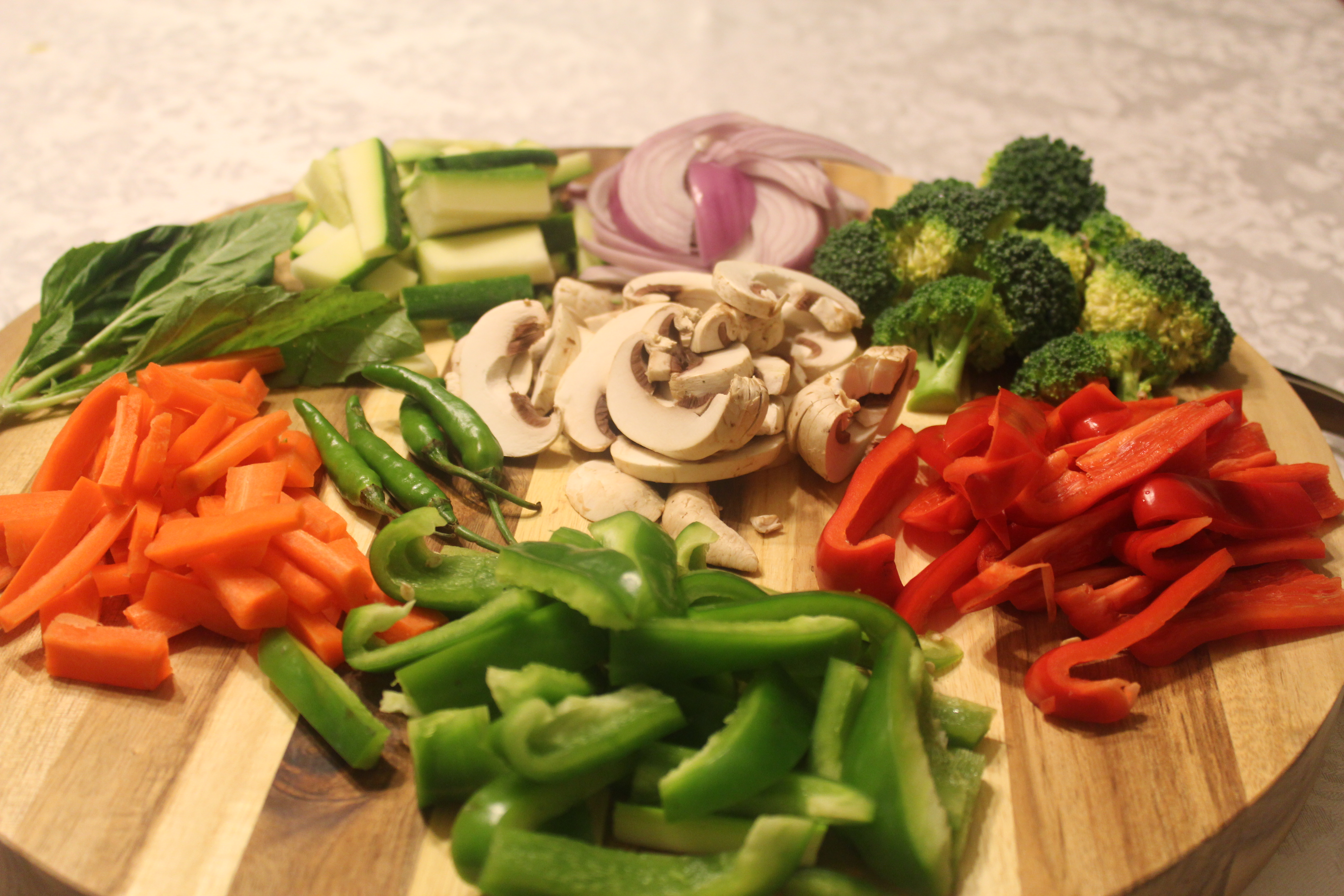 Vegetables for the Curry