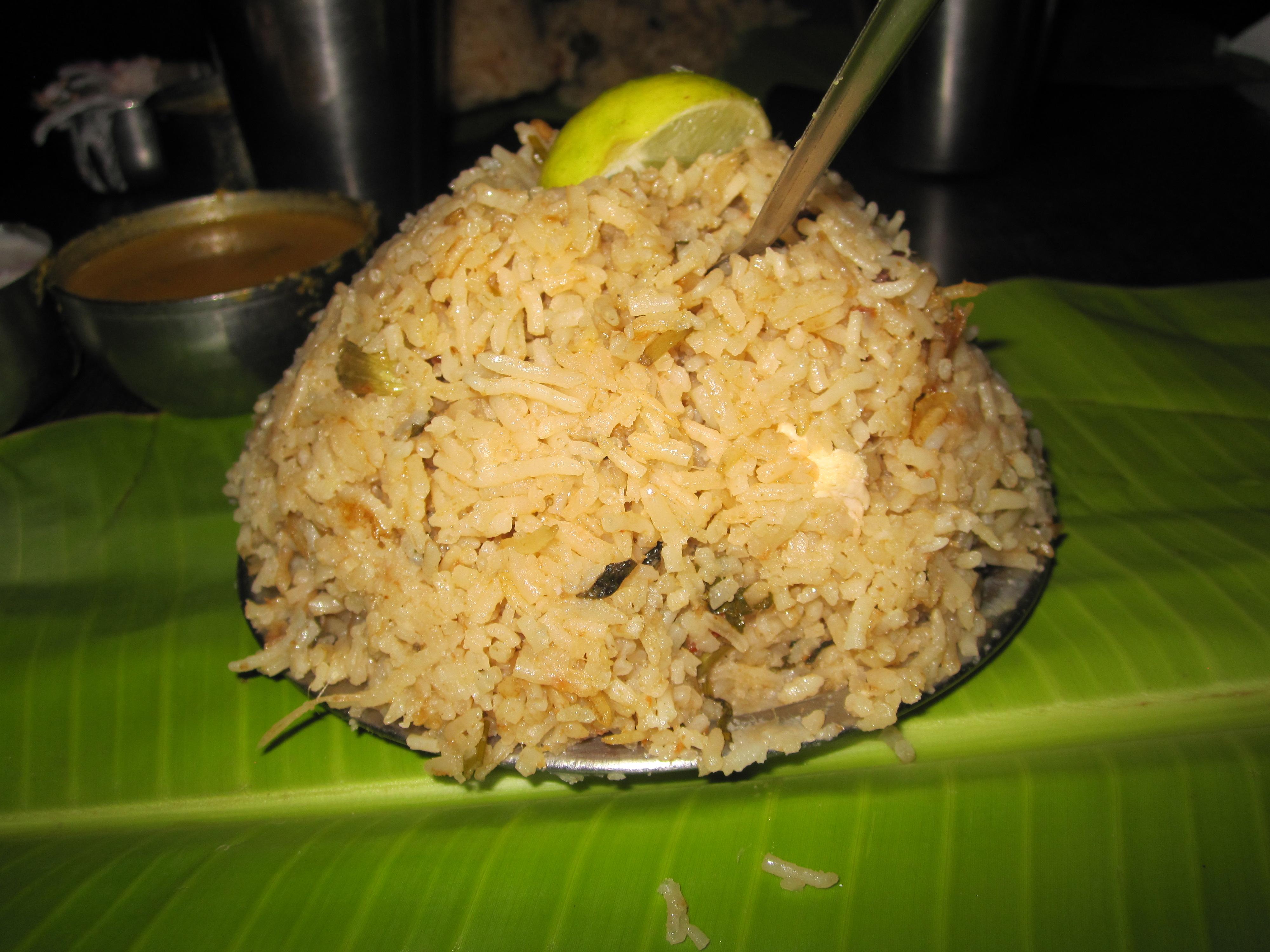 Andhra Chicken Biryani from Nagarjuna, Bangalore