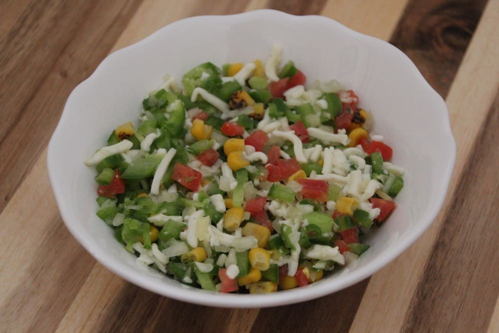 Vegetable and cheese filling